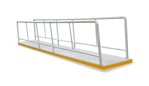 Ms Railing And Aluminium Chequered Plate Gangway