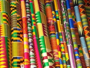 Multicolor Soft African Fabric