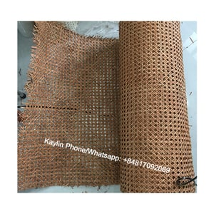 Natural Unbleached Cane Rattan Webbing Open 1, 2 Mesh