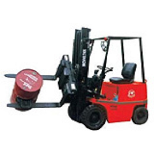 Four Wheels Electric Forklift + Rotating 360xfork Clamp
