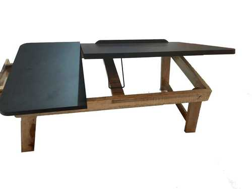 Wooden Laptop Stand With Adjustable Panel