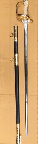 British Royal Navy Swords With Leather Scabbard