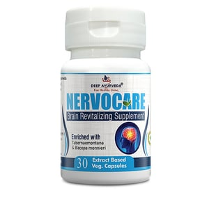 Nervocare Herbal Capsule Brain and Memory Support Supplement