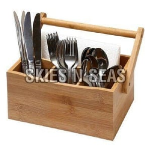 Fine Finish Wooden Cutlery Stand