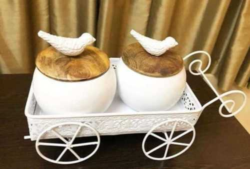 White And Gold Decorative Bowl Set