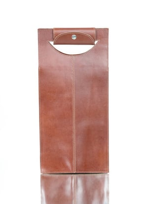 Brown Leather Wine Case