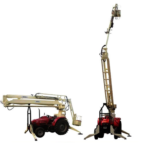 White Painted Steel Tractor Mounted Aerial Access Platforms