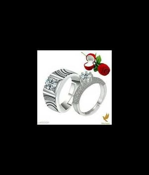 Couple Silver Plated Finger Rings