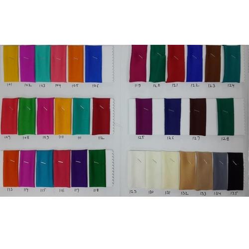 Multicolor Satin Chiffon Dyed Fabrics