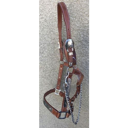Brown Rust Proof Horse Leather Halter