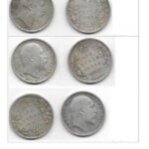 Old Silver Indian Rupee Coins