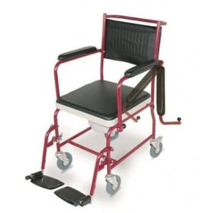 Manual Attendant Commode Wheelchair