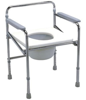 Sturdy Design Foldable Commode Chair
