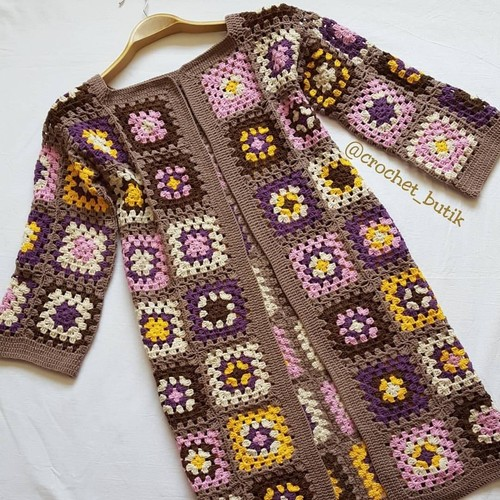 Multi Color Soft Hand Crocheted Cardigans