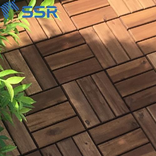 Acacia Wood Interlock Deck Tiles