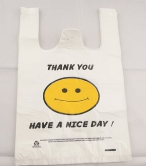 Plastic Bag with Perfect Print
