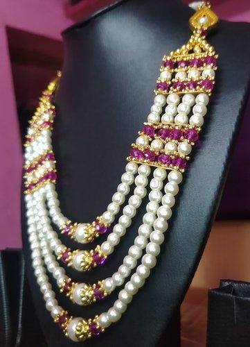 Trendy Multi Strand Beaded Necklace