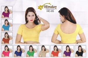 Stretchable Blouse With Fabric Sleeves