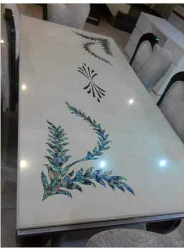 Marble And Mother Of Pearl Table