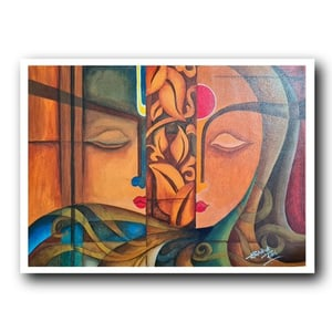 Abstract Figurative Canvas Painting