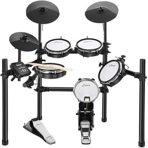 Donner DED-200 Electric Drum Set Electronic Kit With 5 Drums 3 Cymbals