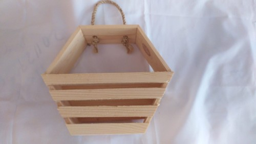 "Pine Wood Basket 8*8"""