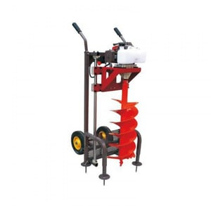 Trolley Type Earth Auger Machine With 12 Inch Auger Bit