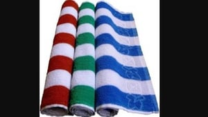 Colored Personal Striped Cotton Hand Towel