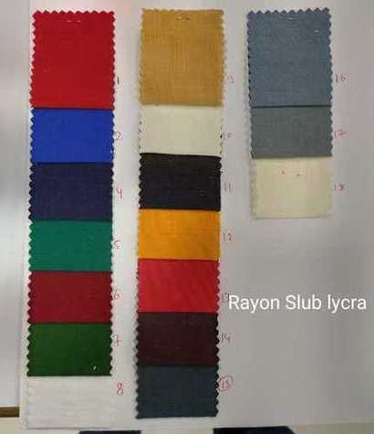 Washable Rayon Slub Lycra Fabric