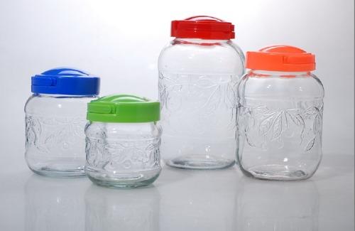Empty Transparent Glass Bottle