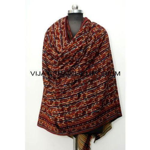 Woolen Printed Paisley Shawl
