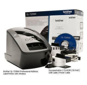 Brother Ql 720nw Wireless Network Label Printer