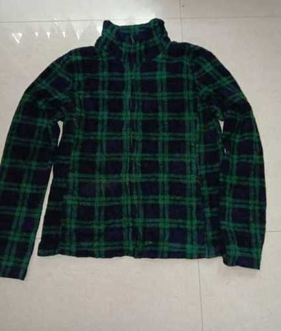 No Fade Used Ladies Flannel Zipper Jacket