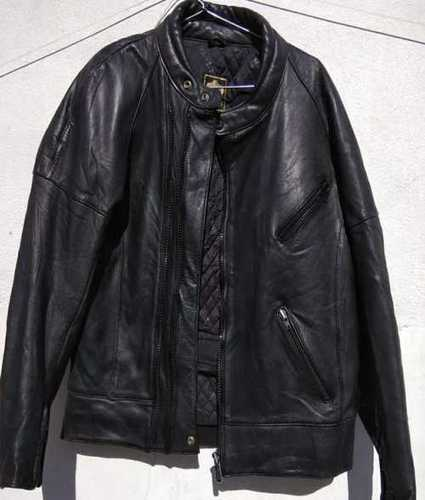 Used Black Colour Mens Leather Jacket