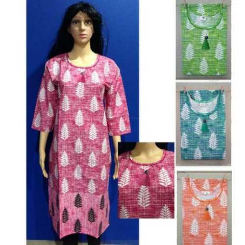 Ladies Stylish Printed Cotton Kurti