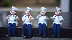 Poly Resin Hastiness Of Cooks Decorative Miniature