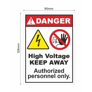 High Voltage Authorised Personnel Only Signage