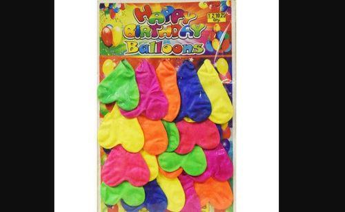 Fluorescent Heart Shaped Birthday Party Latex Balloon