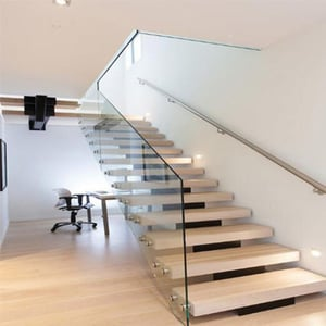 Aluminum Alloy Brown Stairs Modern Staircase Outdoor