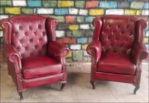 Leather Two Modern Red Sofa Sets