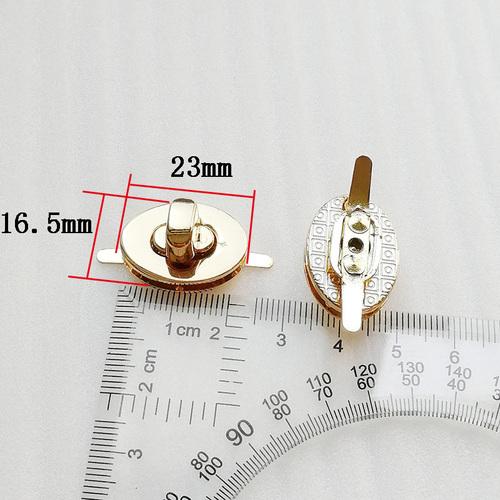 23*16.5mm Regular High Alloy Quality Oval Shape Twist Bag Lock for Handbag/Luggage Accessories
