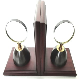 Magnifying Bookend With Two Tone Finish
