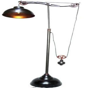 Floor Pulley Lamp With Two Tone Finish