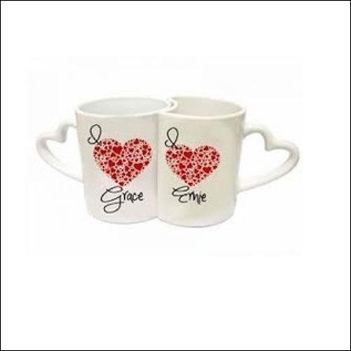 Ceramic Promotional White Couple Mug