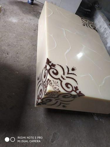 White Rectangular Onyx Stone Table