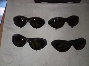 Black Laser Protection Goggles