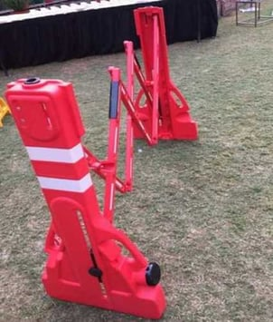 Plastic Expandable Barrier for Roadway Safety