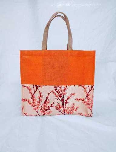Orange Jute Fashion Bags
