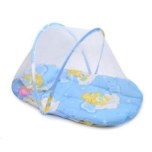 Kids Cotton Padded Mosquito Protector Bed Net