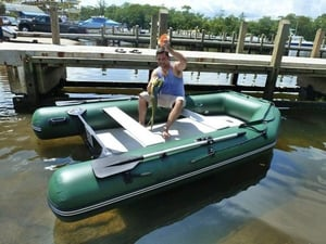 Inflatable Extra Wide Dingy Raft Fishing Boat